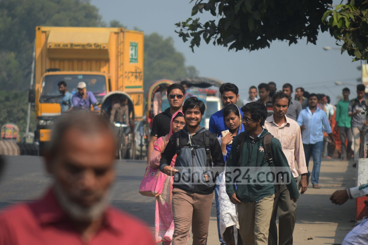 The transport strike meant Chittagong City commuters were in big trouble due to the lack of ride on Tuesday.