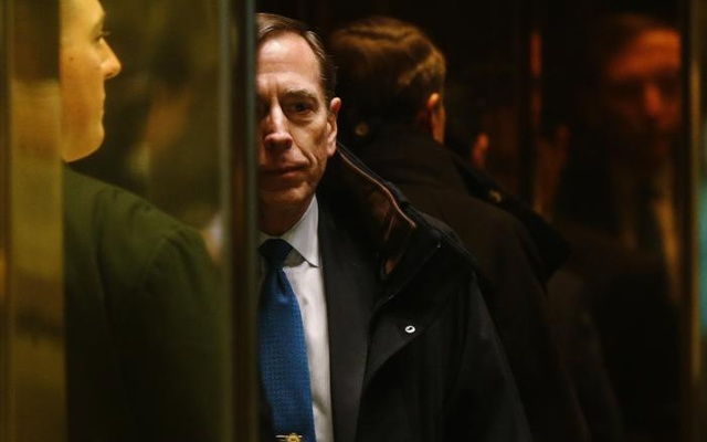 Former CIA director David Petraeus arrives to meet with US President elect Donald Trump at Trump Tower New York, US, Nov 28, 2016. Reuters