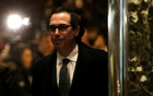 Steven Mnuchin, the Trump campaign's finance director, arrives at U.S. President-elect Donald Trump's Trump Tower in New York, U.S. November 28, 2016. Picture taken November 28, 2016. Reuters
