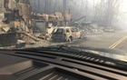 Burned buildings and cars aftermath of wildfire is seen in this image released in social media by Tennessee Highway Patrol in Gatlinburg, Tennessee, US on Nov 29, 2016. Reuters