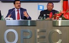 OPEC President Qatar's Energy Minister Mohammed bin Saleh al-Sada and OPEC Secretary General Mohammad Barkindo address a news conference after a meeting of the Organization of the Petroleum Exporting Countries (OPEC) in Vienna, Austria, Nov 30, 2016. Reuters