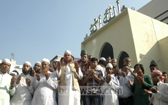 Following an emergency landing of her aircraft on the way to Hungary earlier this week, special prayers were held at mosques and other religious institutes across Bangladesh on Friday seeking good health and long life of Prime Minister Sheikh Hasina. The photo was taken from Baitul Mukarram National Mosque.