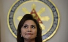 Philippines Vice President Leni Robredo listens to a reporter's question during a news conference following her resignation from her post in President Rodrigo Duterte's cabinet, at the Quezon City Reception House, Metro Manila, Philippines Dec 5, 2016. Reuters