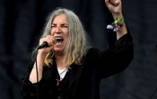 Patti Smith performs on the Pyramid stage at Worthy Farm in Somerset during the Glastonbury Festival in Britain, June 28, 2015. REUTERS/Dylan Martinez/File Photo