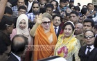 BNP Chairperson Khaleda Zia at the Bakshibazar Special Judge Court for the hearing of a Zia Charitable Trust graft case on Thursday.