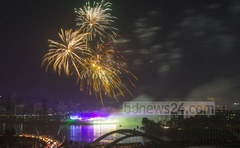 In 2016, the government celebrated after power generation capacity reached 15,000 megawatt by fireworks. bdnews24.com file photo