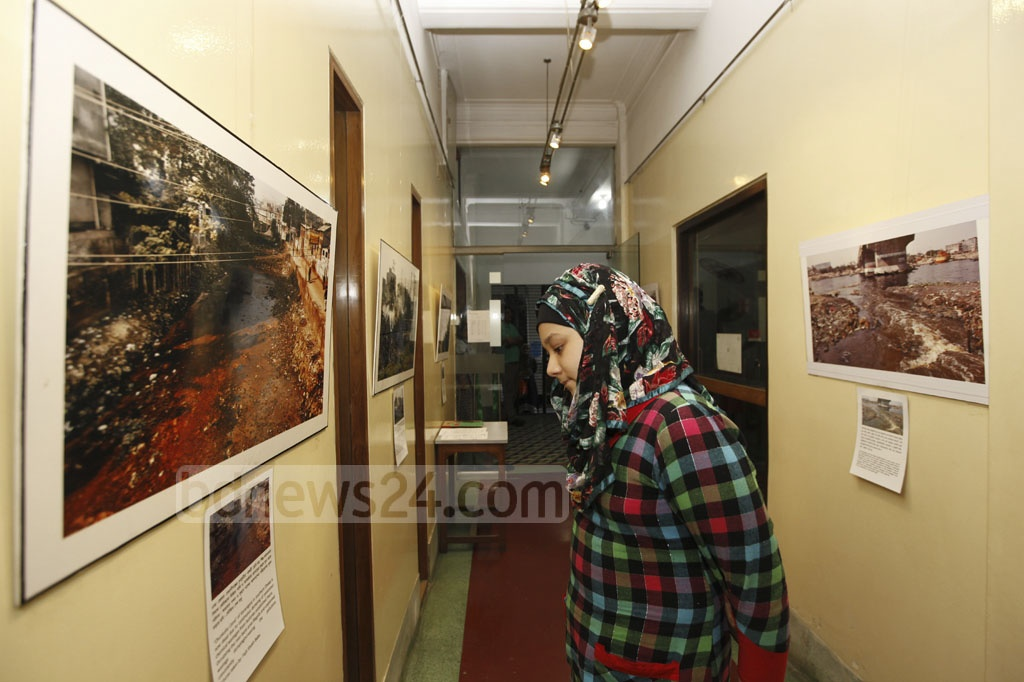 Fojit Sheikh Babu's photo exhibition, titled 'Save the River Burhiganga', started in Dhaka's Alliance Française on Saturday. The exhibition will continue until Dec 24.