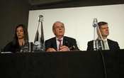 Lawyer Richard McLaren (C) delivers his second and final part of a report for the World Anti-Doping Agency (WADA), at a news conference in London, Britain Dec 9, 2016. Reuters