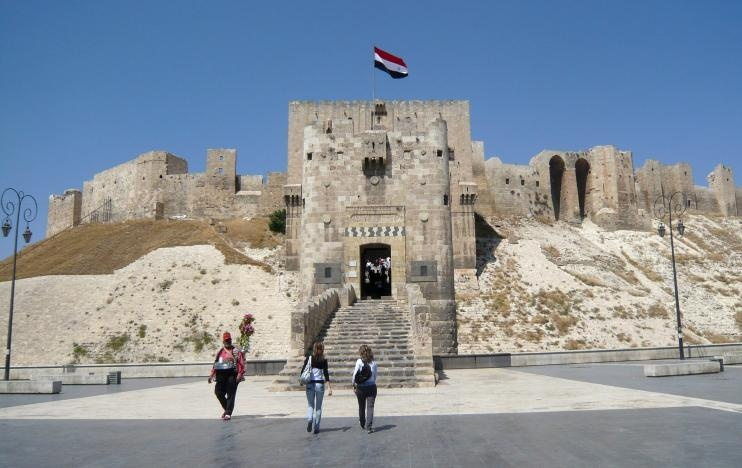 A view shows part of Aleppo's historic citadel, Syria, August 9, 2010. Reuters
