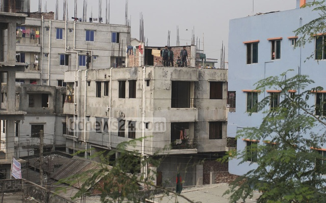 The hideout was set up in the ground floor of this three-storey building at Ashkona.