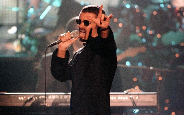 Singer George Michael performs