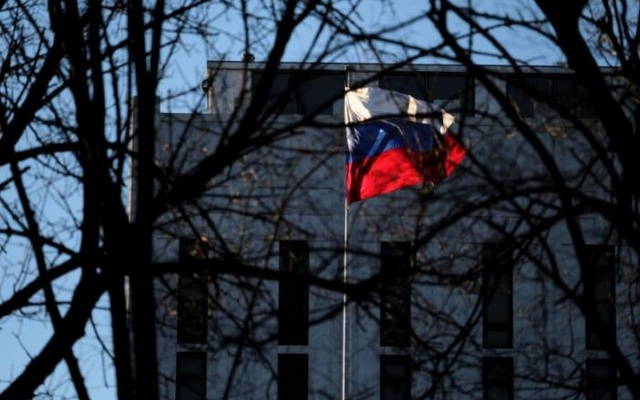 The Russian embassy on Wisconsin Avenue in Washington, US, Dec 29, 2016. Reuters