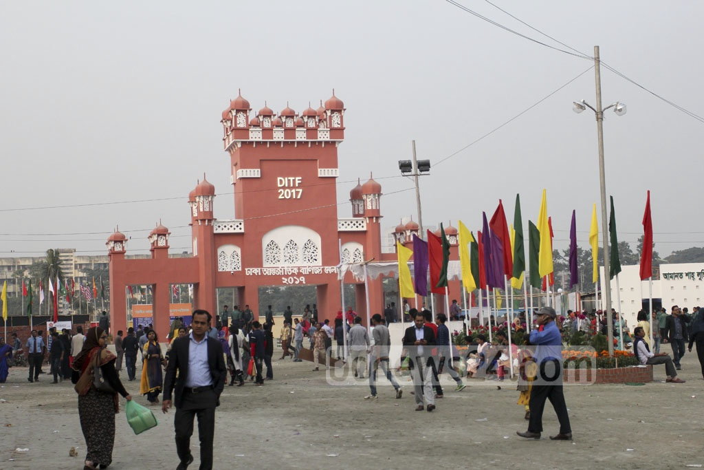 The month-long Dhaka International Trade Fair began at the Sher-e-Bangla Nagar on the first day of the new year 2017. This is a glimpse of the second day of the fair on Monday. Photo: asif mahmud ove