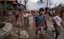 Myanmar, also known as Burma, views its Rohingya population as illegal Bangladeshi immigrants. Undated Reuters file photo shows Rohingya Muslims fleeing violence