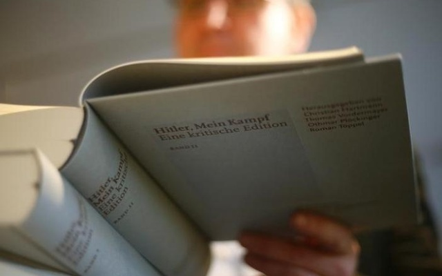 A copy of the book 'Hitler, Mein Kampf. A Critical Edition' at a book shop in Munich, Germany Jan 8, 2016. Reuters