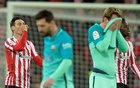 Barcelona lose first leg of cup tie in fiery Bilbao affair