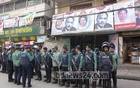 Police cordon off the BNP headquarters in Dhaka's Naya Paltan on Saturday, after authorities denied the party permission to hold a rally there.