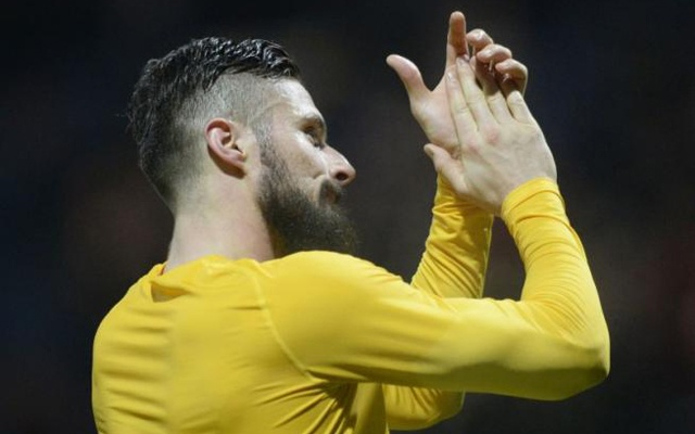 Preston North End v Arsenal - FA Cup Third Round - Deepdale - 7/1/17 - Arsenal's Olivier Giroud applauds fans after the game. Reuters