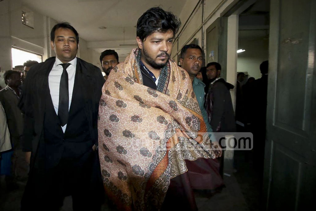 Actor Kalyan Corraya is taken to court following his detention over a hit-and-run incident involving Prothom Alo photojournalist Zia Islam.