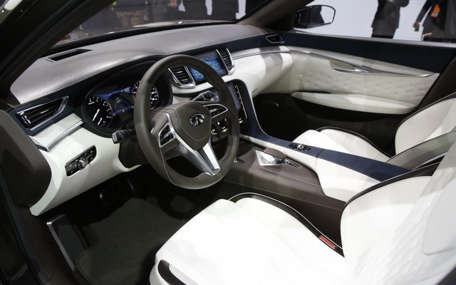 Interior view of the Infiniti QX50 concept car. Reuters