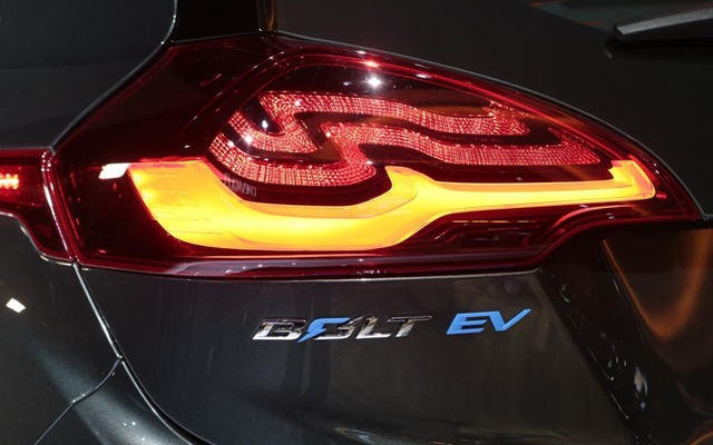 Rear quarter detail view of a 2018 Chevrolet Bolt EV. Reuters