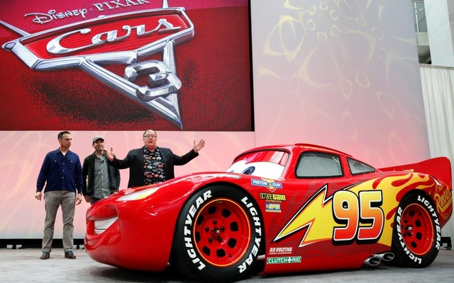 John Lasseter, Chief Creative Officer of Walt Disney and Pixar Animation Studios, introduces Lightning McQueen from Disney Pixar's 'Cars 3'. Reuters
