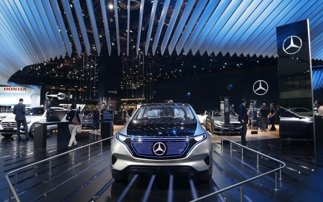 The Mercedes-Benz EQ electric concept car. Reuters