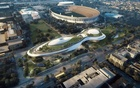 An artist rendering shows Lucas Museum of Narrative Art to be built in Exposition Park in downtown Los Angeles in this image released in California, US, January 10, 2017. Reuters