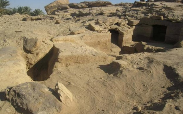 One of 12 newly discovered ancient Egyptian cemeteries dating back to the New Kingdom era, at Gabal al-Silsila or Chain of Mountains area in Upper Egypt, north of Aswan, January 11, 2017. in this handout picture courtesy of the Ministry of Antiquities. Reuters