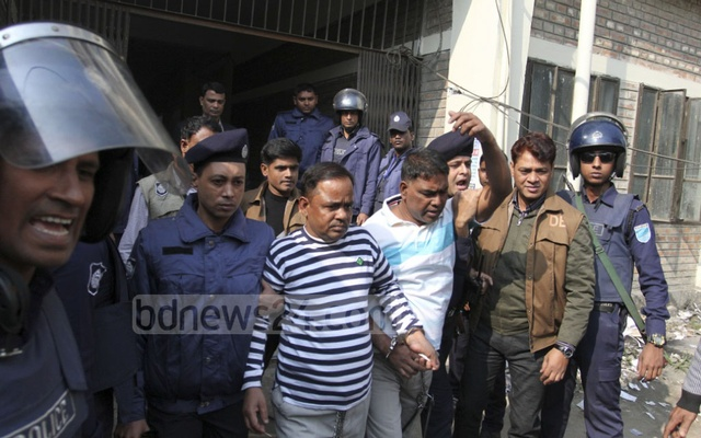 Narayanganj seven-murder convicts are being taken out of the court.