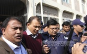 Sacked army lieutenant colonel Tarek Sayeed Mohammad,death-row convict of the 2014 seven-murder, is being brought to Narayanganj court on Monday. Photo: asif mahmud ove