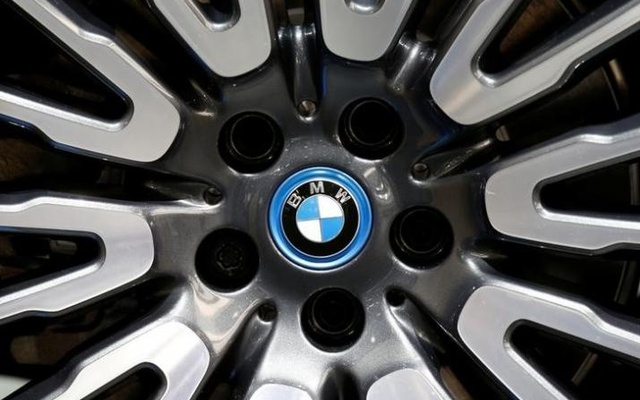 View of a BMW logo on a wheel at the Mondial de l'Automobile, Paris auto show, during media day in Paris, September 30, 2016. Reuters