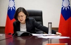 Taiwan's President Tsai Ing-wen speaks on the phone with U.S. president-elect Donald Trump at her office in Taipei, Taiwan, in this handout photo made available December 3, 2016. Reuters