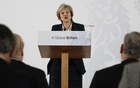 Britain's Prime Minister Theresa May delivers a speech on leaving the European Union at Lancaster House in London, January 17, 2017. Reuters