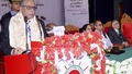 President Md Abdul Hamid speaks at a programme of Ekattorer Ghatak Dalal Nirmul Committee celebrating its silver jubilee and Seventh National Council in the capital's Institution of Engineers, Bangladesh on Thursday.