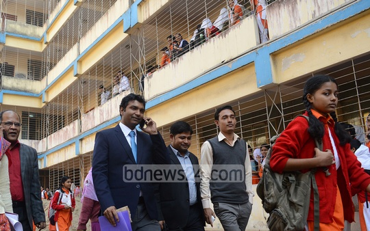 Amidst allegations of rising admission fee, a Chittagong district administration inspection team visited the Bangladesh Women's Association High School and College on Thursday.