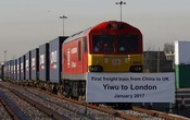 The first freight train to travel from China to Britain arrives at a welcoming ceremony to mark the inaugural trip at Barking Intermodal Terminal near London near London, Britain January 18, 2017. Reuters