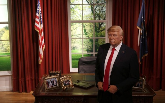 A waxwork of US President-elect Donald Trump is displayed during a media event at Madame Tussauds in London, Britain January 18, 2017. Reuters
