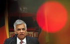 Sri Lankan Prime Minister Ranil Wickremesinghe addresses reporters at a hotel in Beijing, China April 9, 2016. Reuters