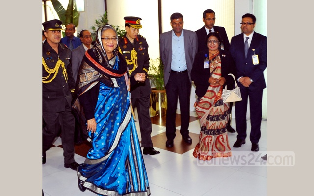 PM Hasina back in Dhaka after attending WEF in Davos