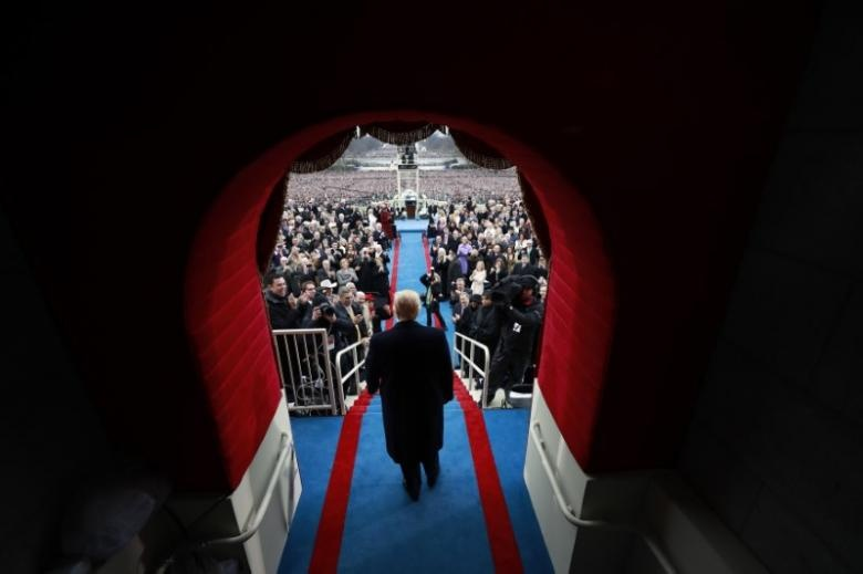 President-elect Donald J. Trump arrives at the inauguration ceremonies swearing him in as the 45th president of the United States at the United States Capitol in Washington, D.C., U.S., January 20, 2017.