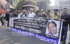 Bangladesh Photojournalist Association forms a human chain in front of National Press Club on Sunday to demand swift justice for the murder of photojournalist Aftab Ahmed and the hit-and-run case that injured photojournalist Zia Islam.