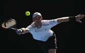 Tennis - Australian Open - Melbourne Park, Melbourne, Australia - 22/1/17 Britain's Andy Murray reaches for a shot during his Men's singles fourth round match against Germany's Mischa Zverev. Reuters