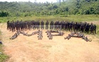 This picture taken in 2014 shows Northeast Indian rebels in a camp at Myanmar's Sagaing Province. Photo: bdnews24.com