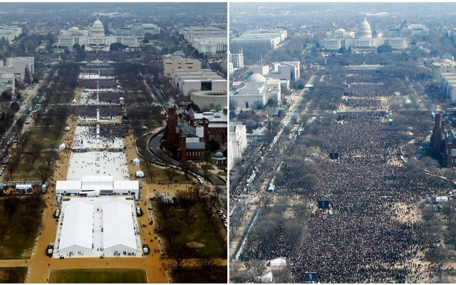 Crowd controversy: the making of an Inauguration Day photo