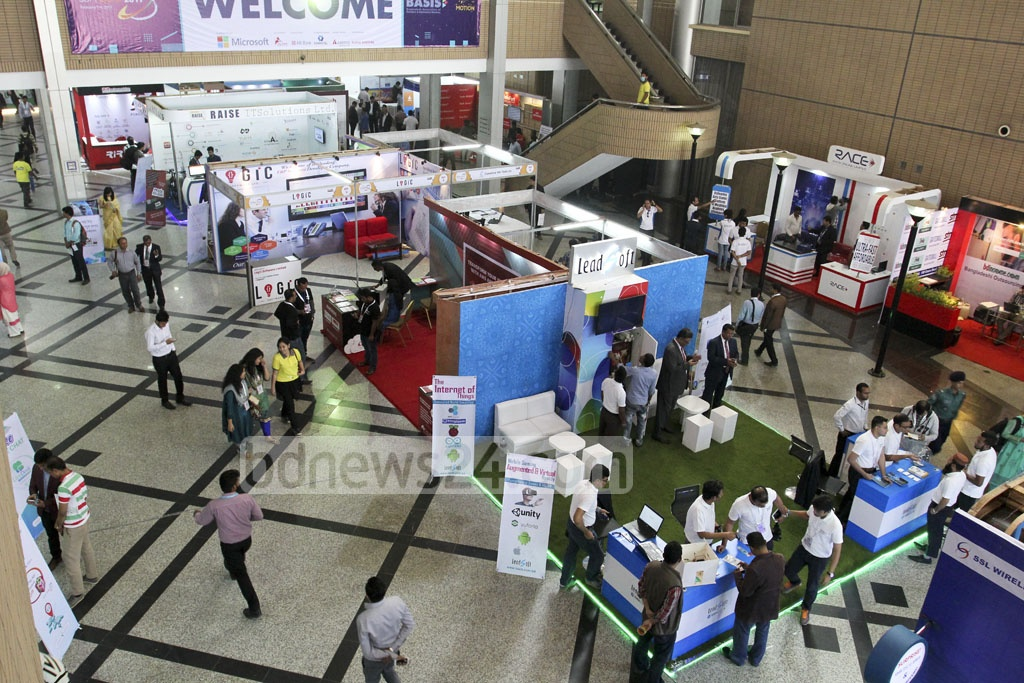 The four-day long 'BASIS Softexpo 2017' at the Bangabandhu International Conference Centre in Dhaka on Wednesday. Photo: asif mahmud ove