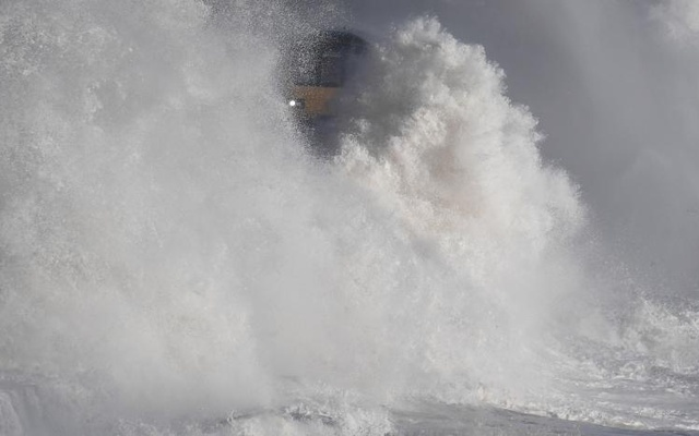 The weekend could see widespread travel disruption from powerful winds and high waves. Reuters