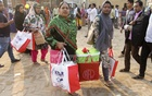 Last minute shopping at the Dhaka International Trade Fair on Saturday, the last day of the four days of extended period of the month-long fair. Photo: asif mahmud ove