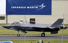 A US Marine Corps Lockheed Martin F-35B fighter jet taxis after landing at the Royal International Air Tattoo at Fairford, Britain Jul 8, 2016. Reuters