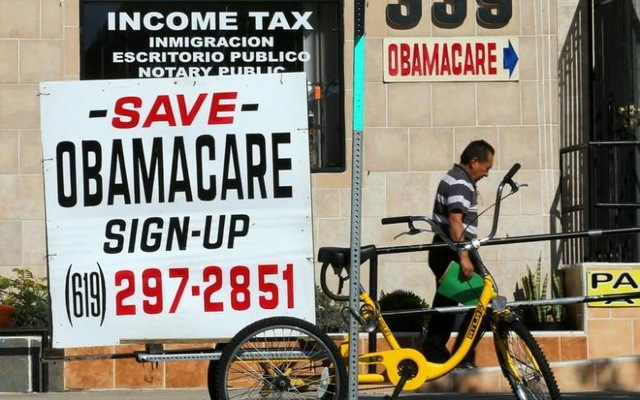 An insurance store advertises Obamacare in San Ysidro, California, US, Jan 25, 2017. Reuters